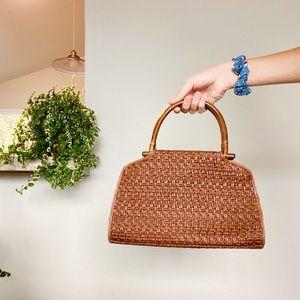 fossil • woven handbag